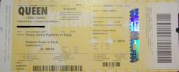 Ticket stub - Queen + Adam Lambert live at the Unipol Arena, Bologna, Italy [10.11.2017]