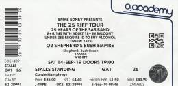Ticket stub - Roger Taylor live at the Shepherds Bush Empire, London, UK (with SAS Band) [14.09.2019]