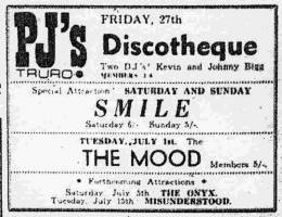 Flyer/ad - Smile in Truro on 28.-29.06.1969