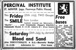 Flyer/ad - Smile in St. Minver on 25.07.1969