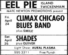Flyer/ad - Smile in Twickenham on 24.04.1970