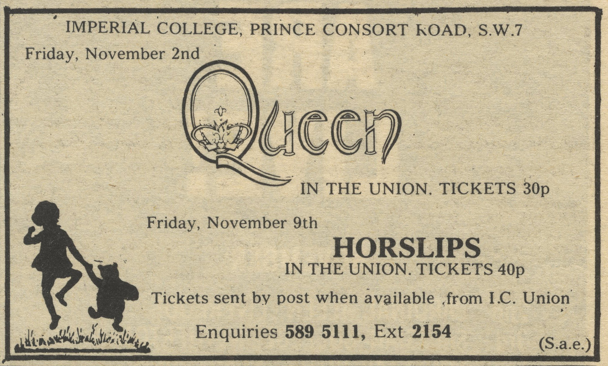 Queen in Imperial College, London on 2.11.1973