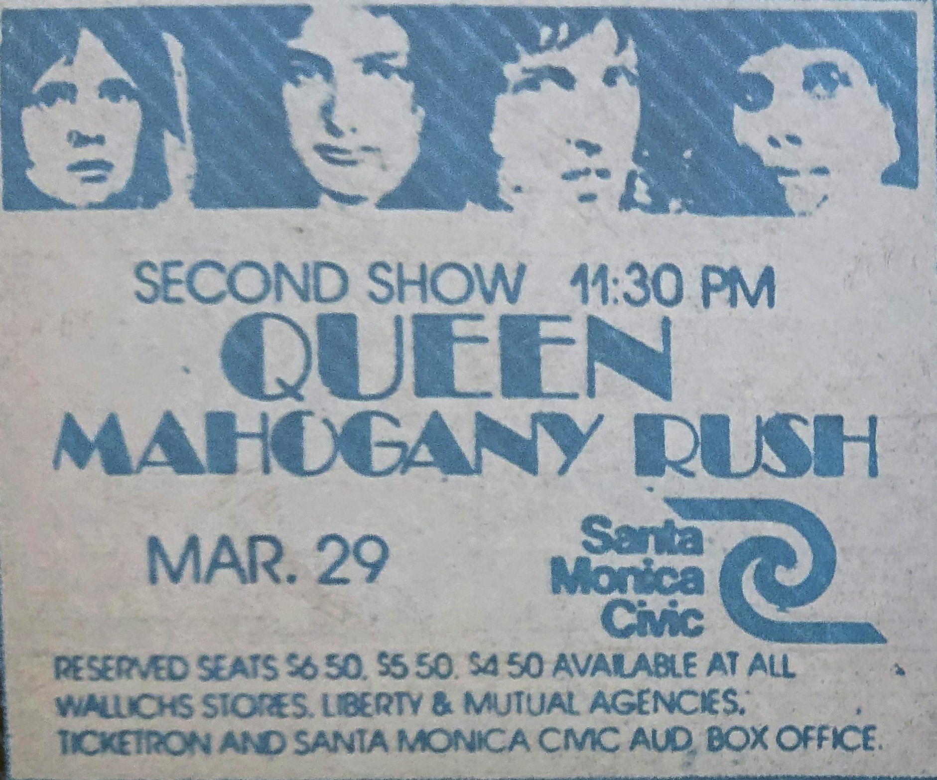 Queen in Santa Monica on 29.03.1975