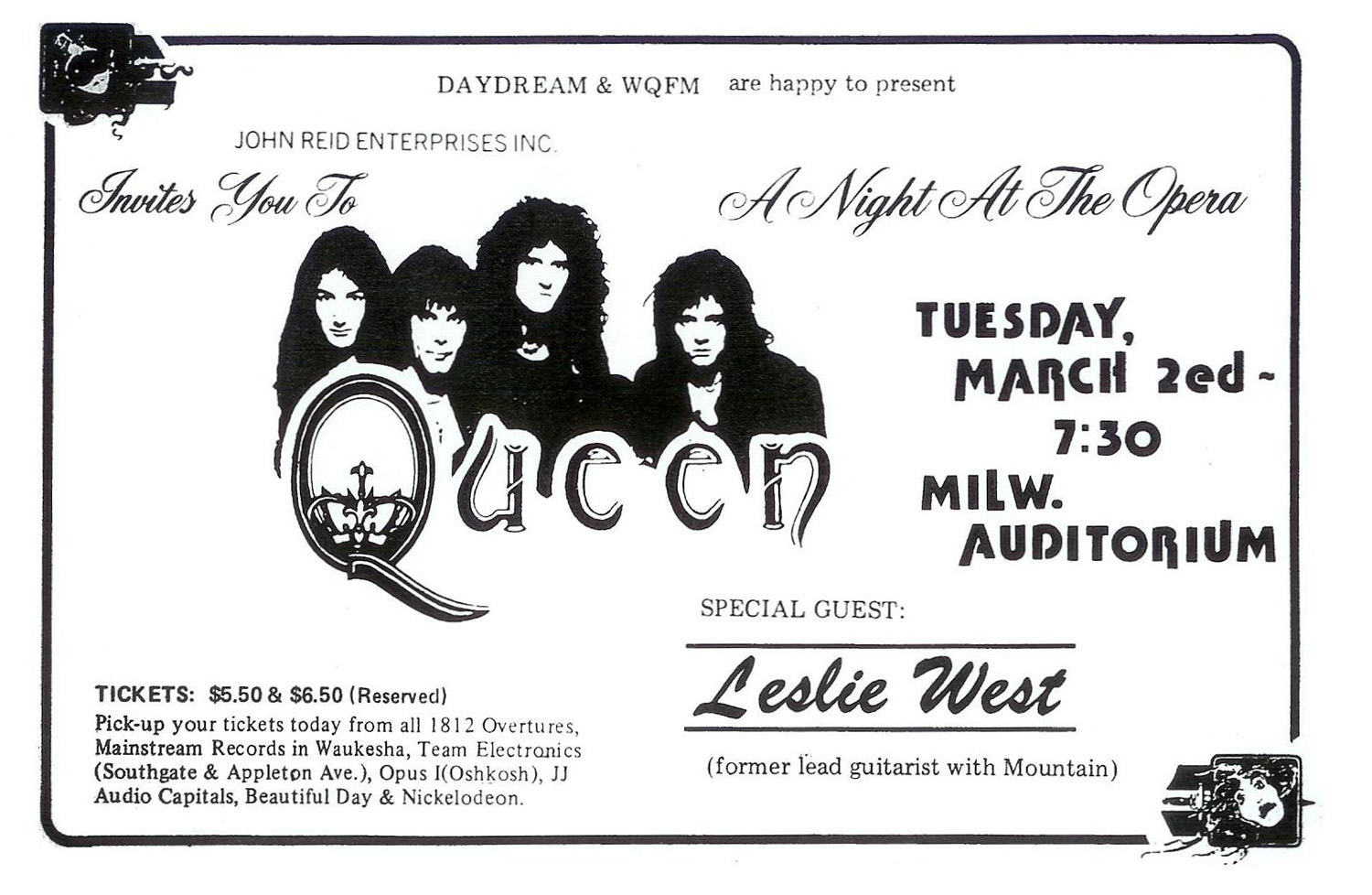 Queen in Milwaukee on 2.3.1976