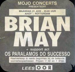 Flyer/ad - Brian May in Rotterdam on 21.6.1993