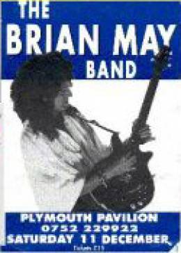 Flyer/ad - Brian May in Plymouth on 11.12.1993