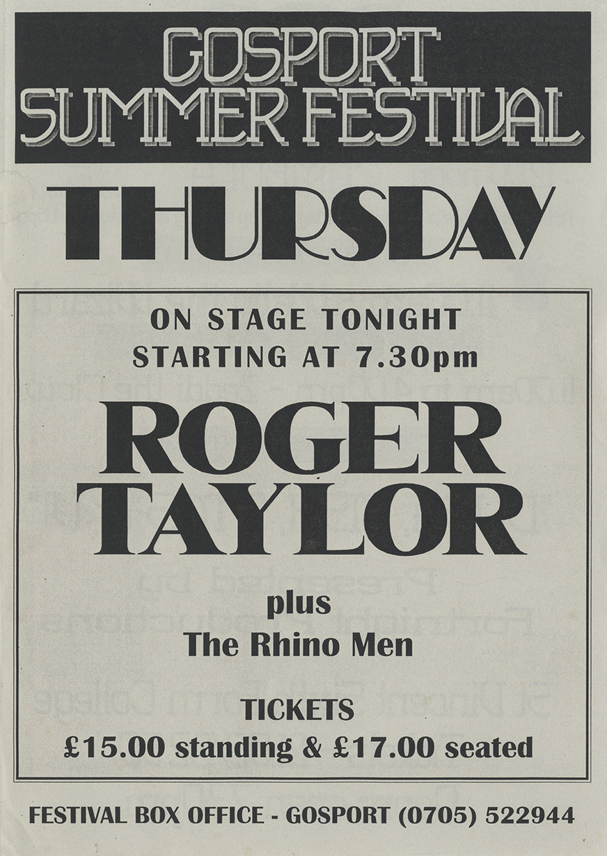 Roger Taylor in Gosport on 28.7.1994