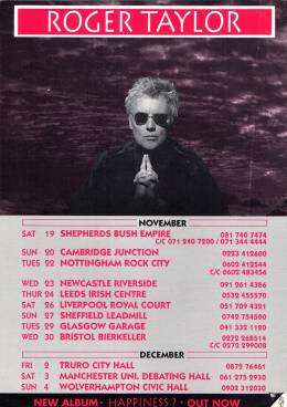 Flyer/ad - Roger Taylor in the UK 1994