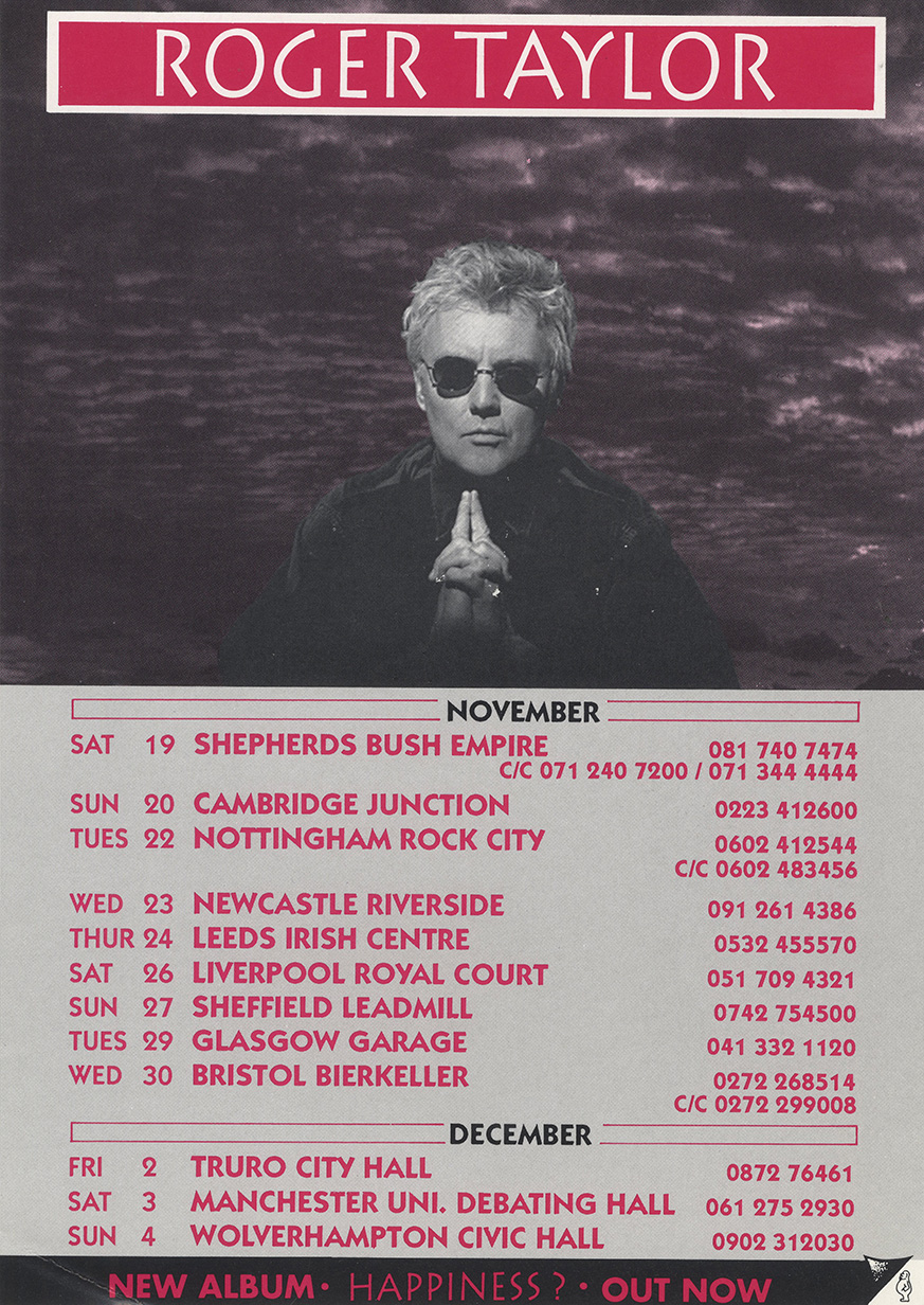 Roger Taylor in the UK 1994