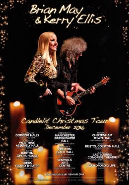 Flyer/ad - Brian May with Kerry Ellis - cancelled UK tour in December 2016