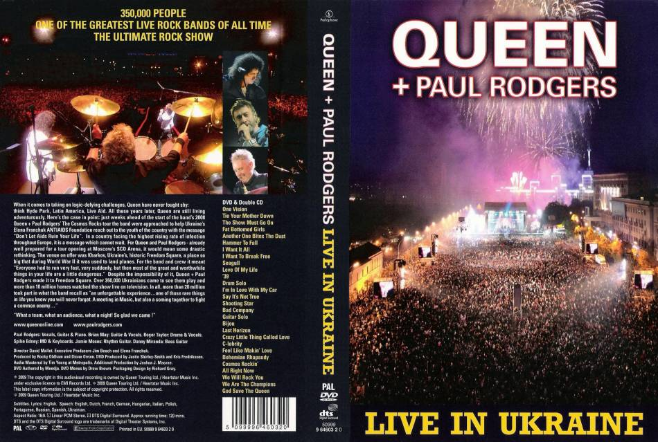 Queen + Paul Rodgers - Live In Ukraine 2008