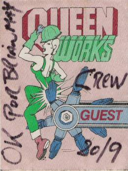 Leiden 20.9.1984 guest pass for Brian's friend
