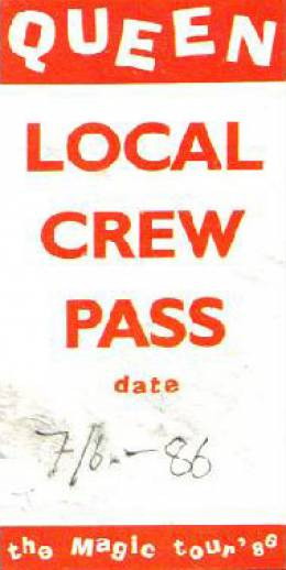 Stockholm 7.6.1986 local crew pass