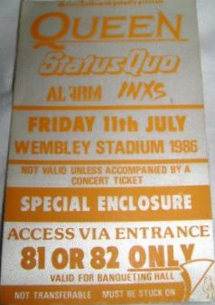 London 11.7.1986 - some kind of guest pass