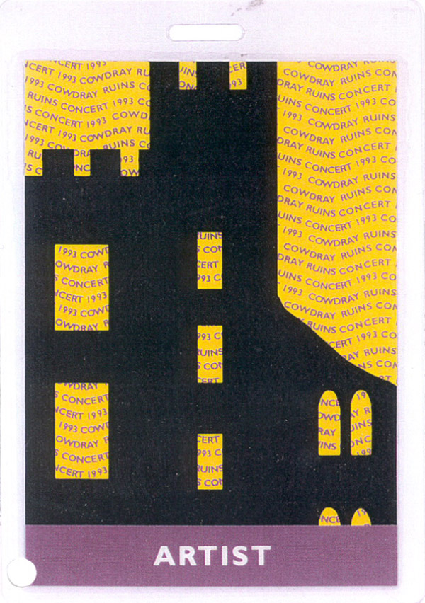 Cowdray Ruins 18.09.1993 artist pass