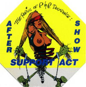 North American aftershow pass yellow (1993)