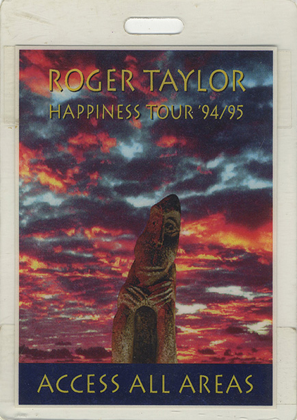 Roger\'s personal all access pass for the Happiness tour