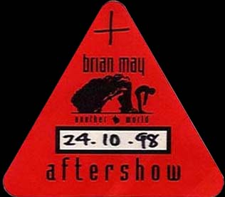 Nottingham 24.10.1998 aftershow pass