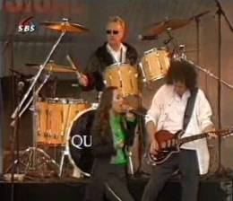 Guest appearance: Brian May + Roger Taylor live at the Museum Square, Amsterdam, The Netherlands (Dutch Queen's birthday)