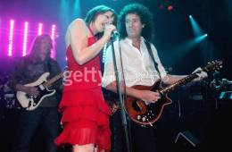 Concert photo: Brian May + Roger Taylor live at the Lyric Theatre, Sydney, Australia (WWRY afterparty) [09.10.2004]