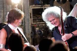 Concert photo: Brian May + Roger Taylor live at the The Savoy, London, UK (Freddie For A Day - Freddie's 65th birthday party) [05.09.2011]