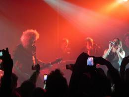 Concert photo: Brian May live at the Scala, London, UK (with Mel C) [09.12.2011]