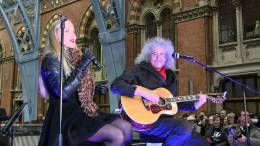 Guest appearance: Brian May live at the St Pancras Railway Station, London, UK (Save The Tiger Fund)
