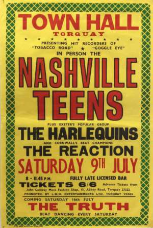 Poster - The Reaction in Torquay on 09.07.1966