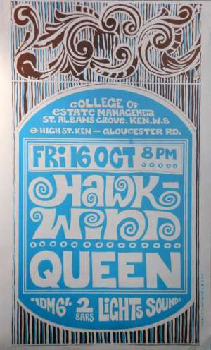 Poster - Queen in London on 16.10.1970