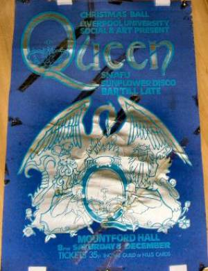Poster - Queen in Liverpool on 08.12.1973