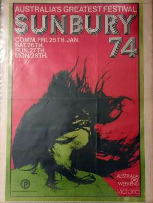 Poster - Queen in Sunbury on 27.01.1974