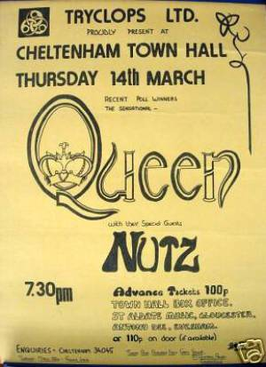 Poster - Queen in Cheltenham on 14.03.1974