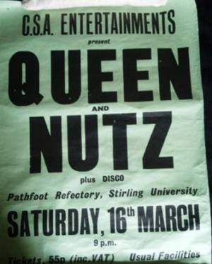 Poster - Queen in Stirling on 16.03.1974