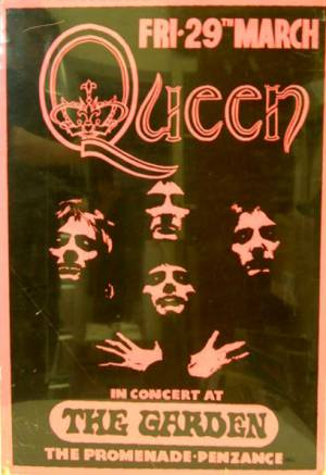 Poster - Queen in Penzance on 29.03.1974