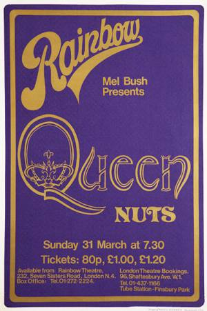 Poster - Queen in London on 31.03.1974