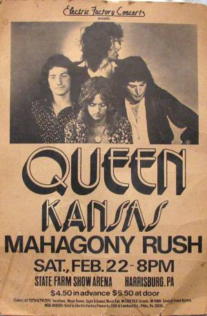 Poster - Queen in Harrisburg on 01.05.1974