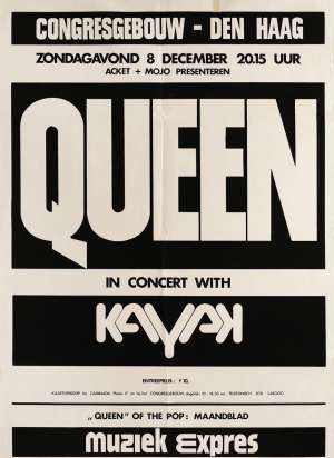Poster - Queen in Hague on 08.12.1974