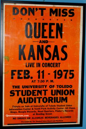 Poster - Queen in Toledo on 11.02.1975
