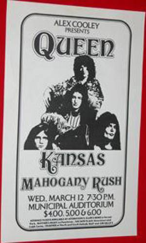 Poster - Queen in Atlanta on 12.03.1975