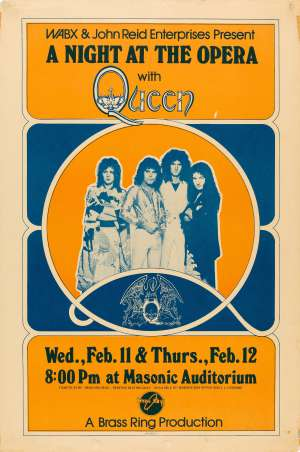Poster - Queen in Detroit on 11.-12.02.1976