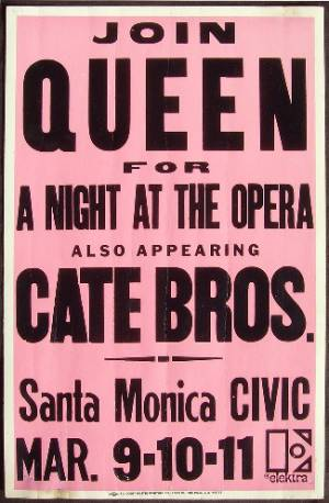 Poster - Queen in Santa Monica on 09.-12.03.1976