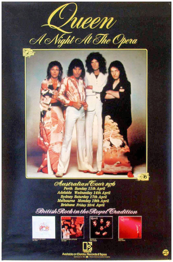 Tour posters from Queen tours in the 1970s QueenConcerts