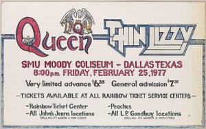 Poster - Queen in Dallas on 25.02.1977