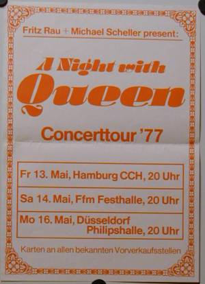 Poster - Queen in Germany in May 1977