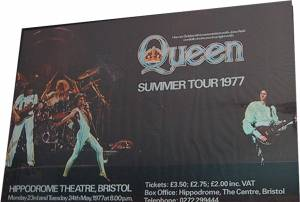 Poster - Queen in Bristol on 23.05.1977