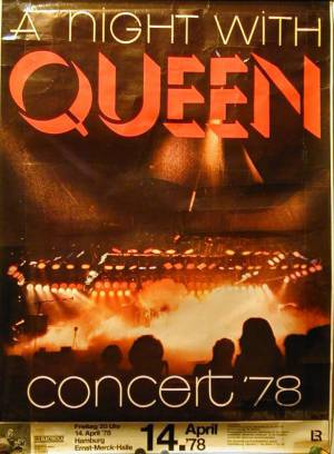 Poster - Queen in Hamburg on 14.04.1978