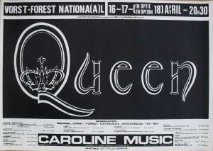 Poster - Queen in Brussels on 16.-17.04.1978