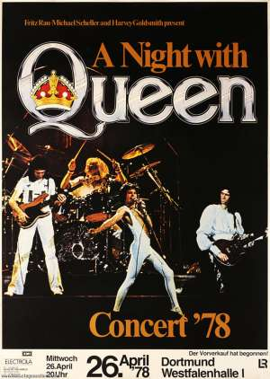 Poster - Queen in Dortmund on 26.04.1978