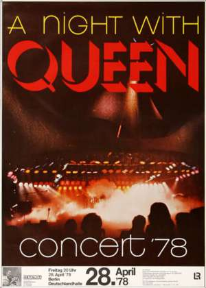 Poster - Queen in Berlin on 28.04.1978