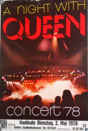 Poster - Queen in Vienna on 02.05.1978